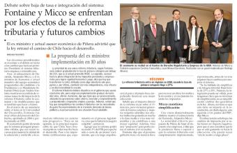 Fontaine y Micco se enfrentan por los efectos de la reforma tributaria y futuros cambios
