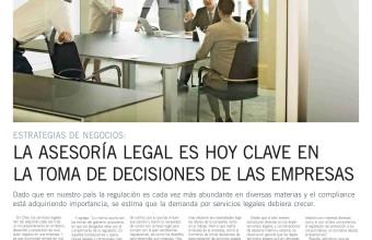 La asesoría legal es hoy clave en la toma de decisiones de las empresas