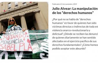 """La manipulación de los """"derechos humanos"""", por Julio Alvear Téllez."""
