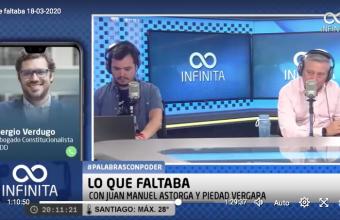 Lo que representa un estado de Excepción Constitucional, Sergio Verdugo en Radio Infinita