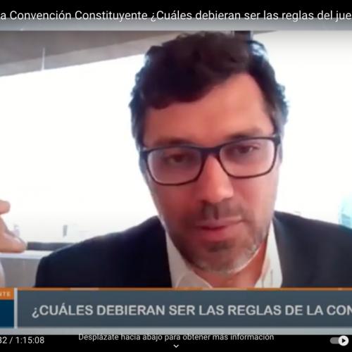"""Sergio Verdugo participa de Charla titulada """"El Reglamento de la Convención: ¿Cuáles deben ser la Reglas del Juego"""""""