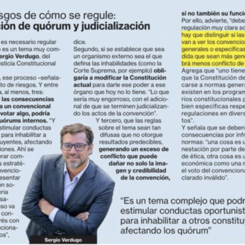 """Entrevista a Sergio Verdugo, sobre """"Los riesgos de cómo se regule: Alteración de quórum y judicialización"""""""