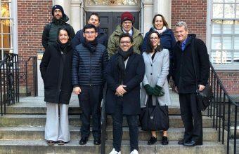 Sergio Verdugo, asiste a reuniones en la Universidad de Nueva York