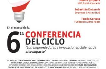 Invitación a sexta conferencia del ciclo