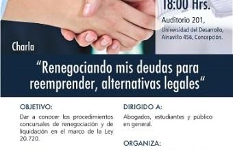 """CHARLA """"RENEGOCIANDO MIS DEUDAS PARA REEMPRENDER, ALTERNATIVAS LEGALES"""""""