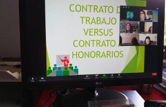 Emprendedores de San Pedro de la Paz participan en Charla sobre Aspectos Laborales del Emprendimiento dictada por la Clínica Jurídica.