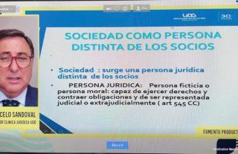 Director de Clínica Jurídica dicta Charla en la Academia de Emprendimiento de la Municipalidad de Concepción