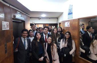 Visita pedagógica al 24 Juzgado Civil