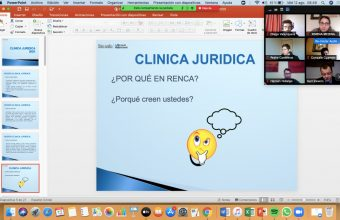 Bienvenida a alumnos por parte del equipo de profesionales de la Clínica Jurídica sede Santiago