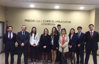 Alumnos de Derecho  visitan Corte de Apelaciones de Concepción