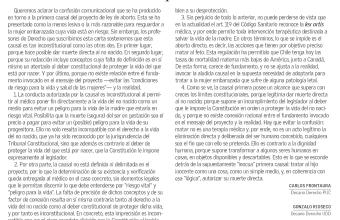 Opinión: La falsa inocencia de la primera causal de aborto, por los decanos de las Facultades de Derecho de PUC, UANDES y UDD