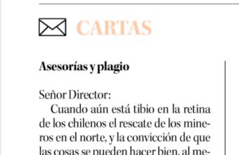 Opinión: Asesoría y plagio, por Renzo Munita en Diario Concepción