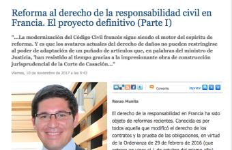 Opinión: Reforma al derecho de la responsabilidad civil en Francia, por Renzo Munita