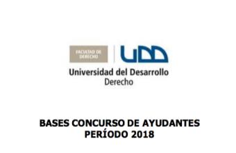 BASES CONCURSO DE AYUDANTES DERECHO ROMANO I PERIODO 2018