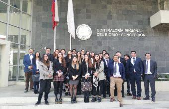 Alumnos participan de visita guiada a la Contraloría Regional del Biobio Concepción