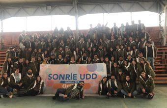 Participación de alumnos de Derecho en el Voluntariado de invierno Sonríe UDD