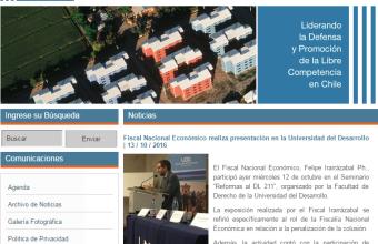 Seminario Colusión UDD publicado en la Fiscalia Nacional Económica