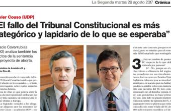 Entrevista a académico Ignacio Covarrubias tras fallo del Tribunal Constitucional