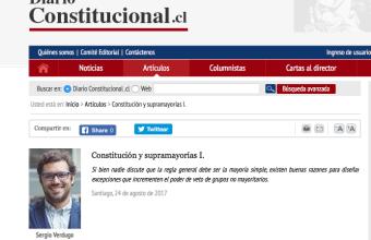 Diario Constitucional entrevista al académico Sergio Verdugo