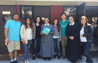 Alumnos asistieron a la comunidad de El Peñón para entregan asesoría jurídica