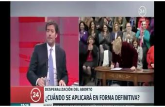 24 hrs entrevista al profesor Sergio Huidobro por aplicación de Ley de Aborto