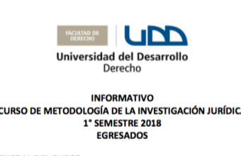 Curso de Metodología de la Investigación Jurídica 1° Semestre 2018