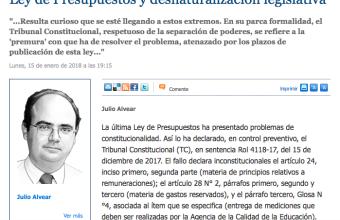 Opinión: Ley de Presupuestos y desnaturalización legislativa, por Julio Alvear