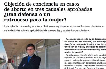 Entrevista: Objeción de conciencia en casos de aborto en tres causales aprobadas ¿Una defensa o un retroceso para la mujer?