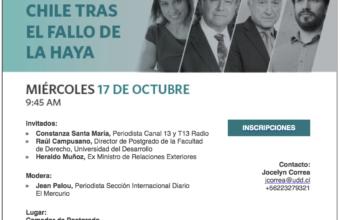 Conversatorio: Chile tras el fallo de La Haya
