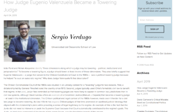 How Judge Eugenio Valenzuela Became a Towering Judge, por Sergio Verdugo