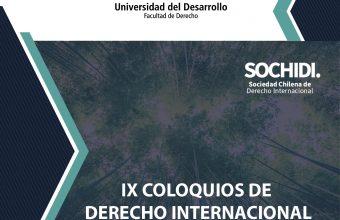 IXColoquiode Derecho Internacional: DERECHO AMBIENTAL Y RECURSOS NATURALES
