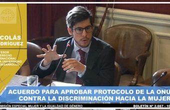 Presentación del profesor Nicolás Rodríguez en el Senado por CEDAW