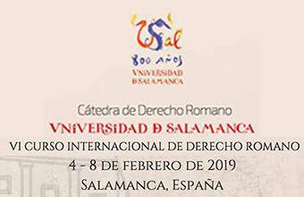 Bases Concurso Académico para el VI Curso Internacional de Derecho Romano en Universidad de Salamanca, España