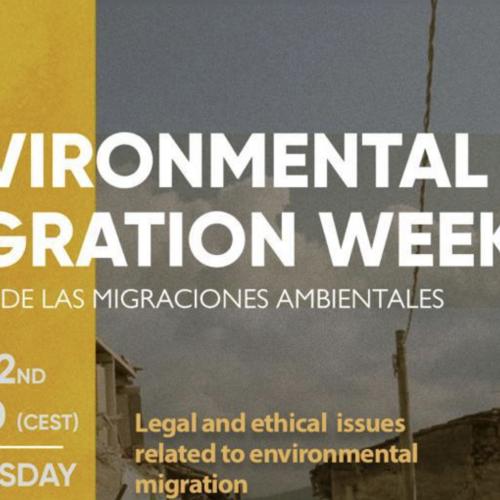 Raúl Campusano, participa del Environmental Migration Week